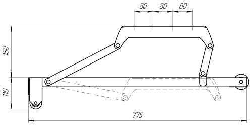 Механизм подъема выкатной МПВ 1 | Схема 1