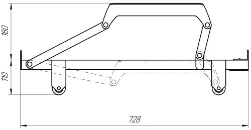 Механизм подъема выкатной МПВ 4 | Схема 1