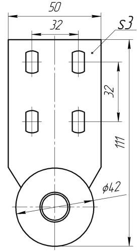 Опора колесная КМ 6 | Схема 1