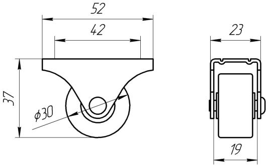 Опора колесная ОМО 2 | Схема 1
