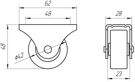 Опора колесная ОМО 3 | Схема 1
