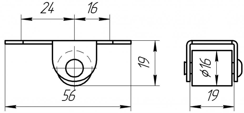 Опора роликовая ОР 1-01 | Схема 1
