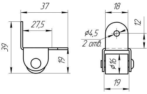 Опора роликовая ОР 1 | Схема 1
