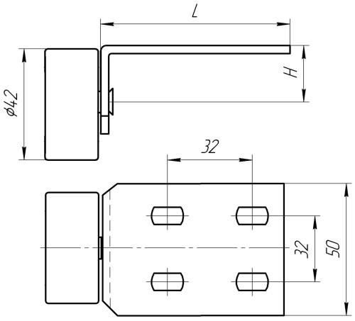 Опора колесная УР 4 / УР 4-1 | Схема 1